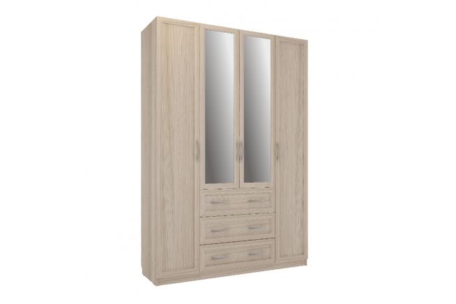 Эко Шкаф 4-х дверный (ясень шимо светлый)