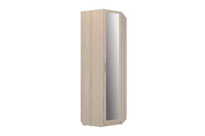 Эко Шкаф угловой с зеркалом (ясень светлый)