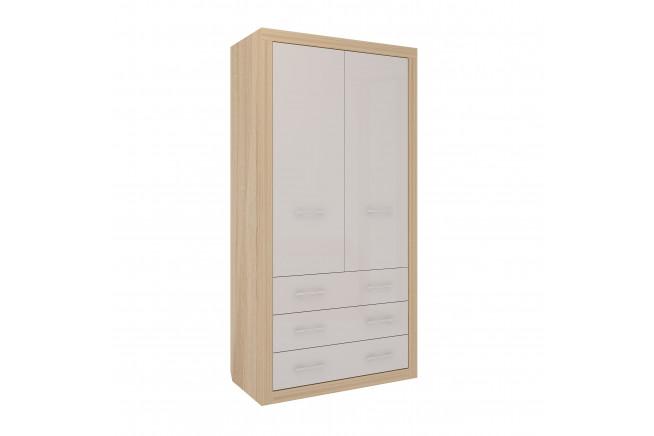 Клео Шкаф 2-х дверный с ящиками (дуб сонома)