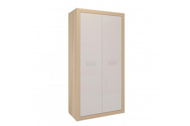 Клео Шкаф 2-х дверный (дуб сонома/белоснежный)
