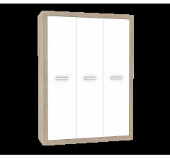 Клео Шкаф 3-х дверный (дуб сонома/белоснежный 3 шт)