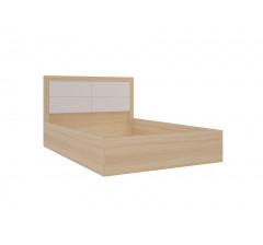 Клео Кровать 1,4 б/к;б/м с мягкой спинкой (дуб сонома)