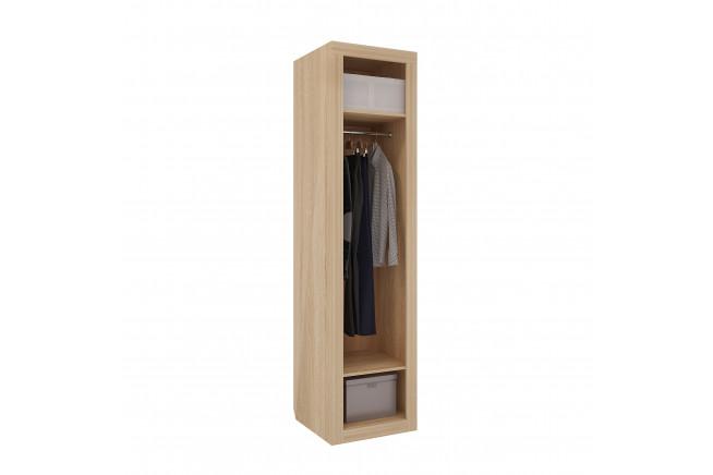 Клео Шкаф 1-но дверный (дуб сонома/белоснежный)