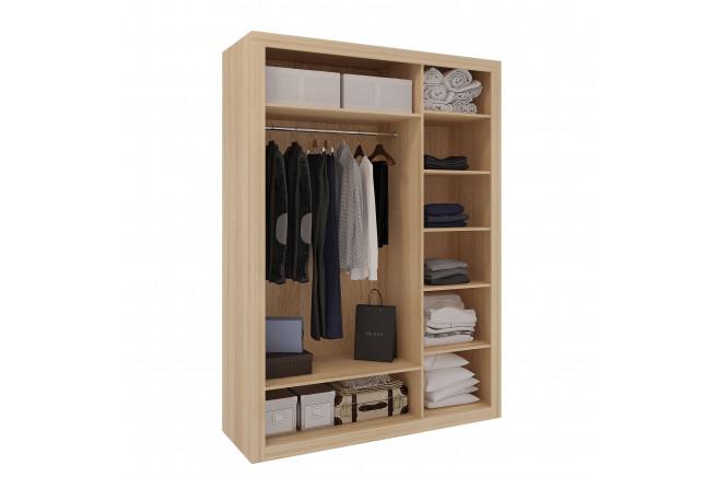 Клео Шкаф 3-х дверный (дуб сонома/белоснежный 2 шт+зеркало)