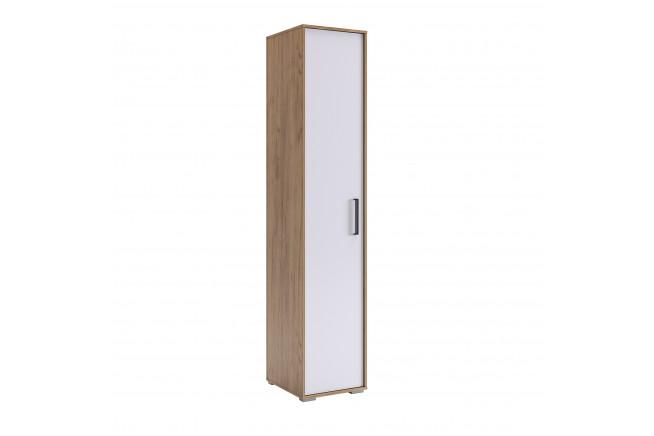 Сиена Шкаф 1-но дверный (дуб крафт золотой\\белоснежный)