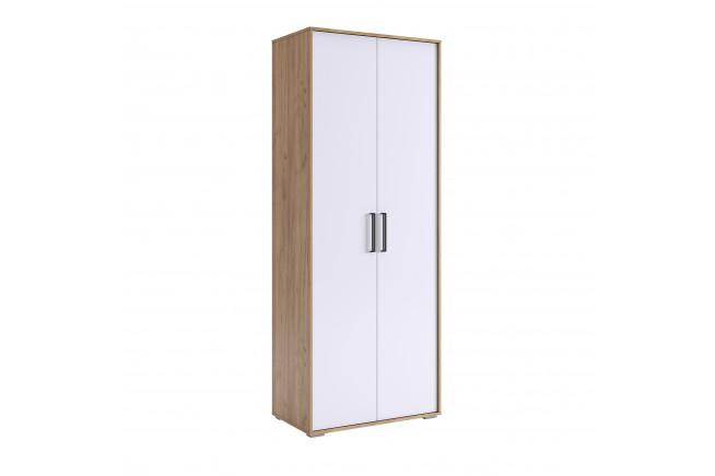 Сиена Шкаф 2-х дверный (дуб крафт золотой\\белоснежный)