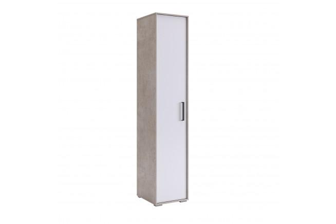 Сиена Шкаф 1-но дверный (слэйт\\белоснежный)
