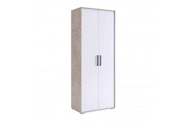 Сиена Шкаф 2-х дверный (слэйт\\белоснежный)