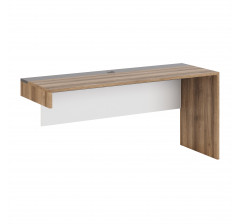 Гринвич. мод. 3 Стол письменный (Авелано,Темно-серый, Белый)
