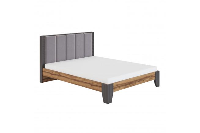 Моника. Мод. 2.2 Кровать с мягкой спинкой 1,6 без орт.осн., без матраса, Авелано, PRIMA light grey