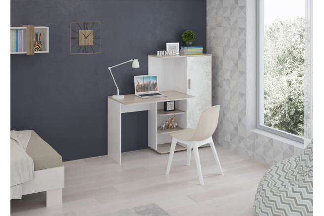 Паскаль мод. 1 Стол со шкафом (Ясень Анкор\\Спринт)